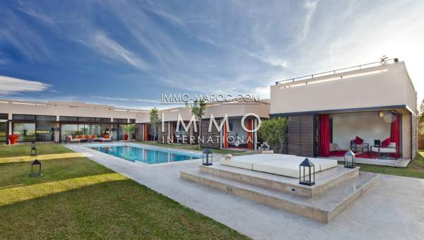 Villa Contemporaine Sur Golf Marrakech Immomaroc