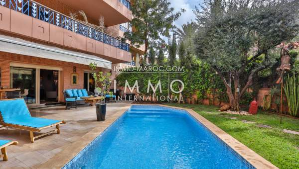 Appartement hivernage prestige marrakech immomaroc for Decoration jardin villa