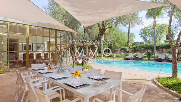 Villa De Luxe A Vendre De Plain Pied Blottie Au Vert Du Golf D Amelkis Immomaroc