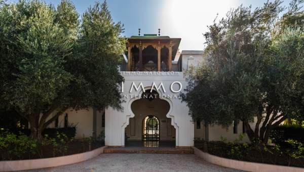 villa vente Marocain épuré biens de prestige Marrakech Golfs Amelkis