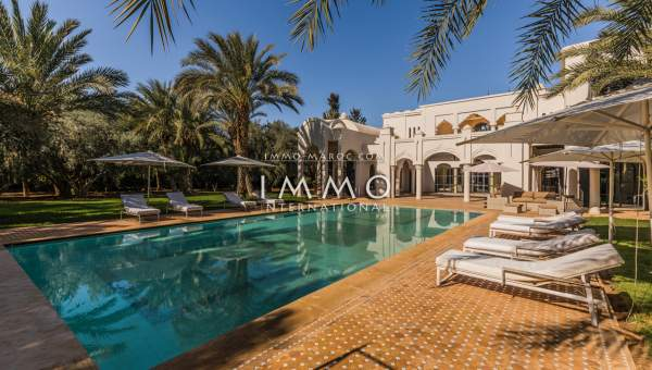 Maison à vendre Marocain épuré Prestige Marrakech Golfs Amelkis