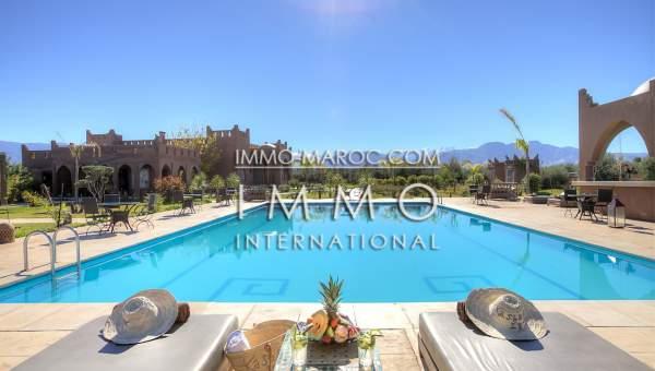 Vente maison Marocain épuré de prestige Marrakech Extérieur Route Amizmiz