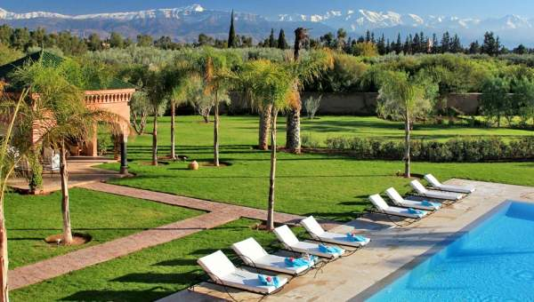 Maison à louer Marocain épuré Marrakech Extérieur Route Ouarzazate