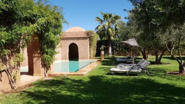 villa achat Marocain épuré Marrakech Extérieur
