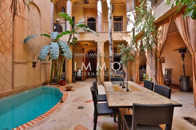 Achat riad marrakech immomaroc for Riad a marrakech avec piscine