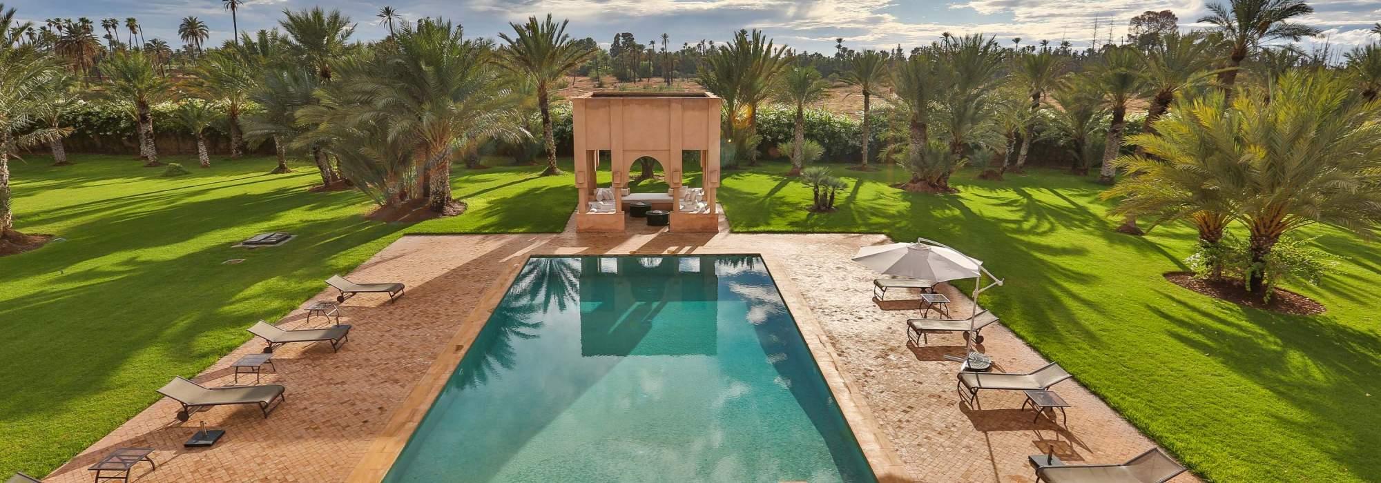 luxueuse villa a vendre a la palmeraie marrakech