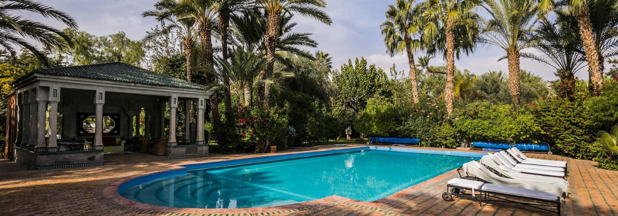 vente villa de luxe a la palmeraie marrakech
