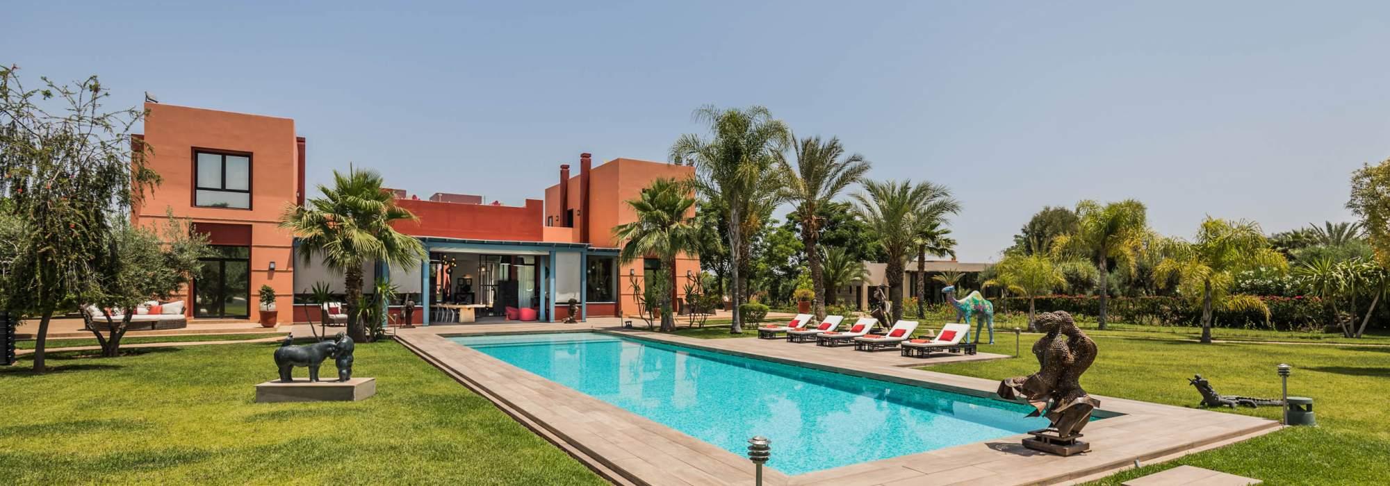vente villa contemporain route d'ourika