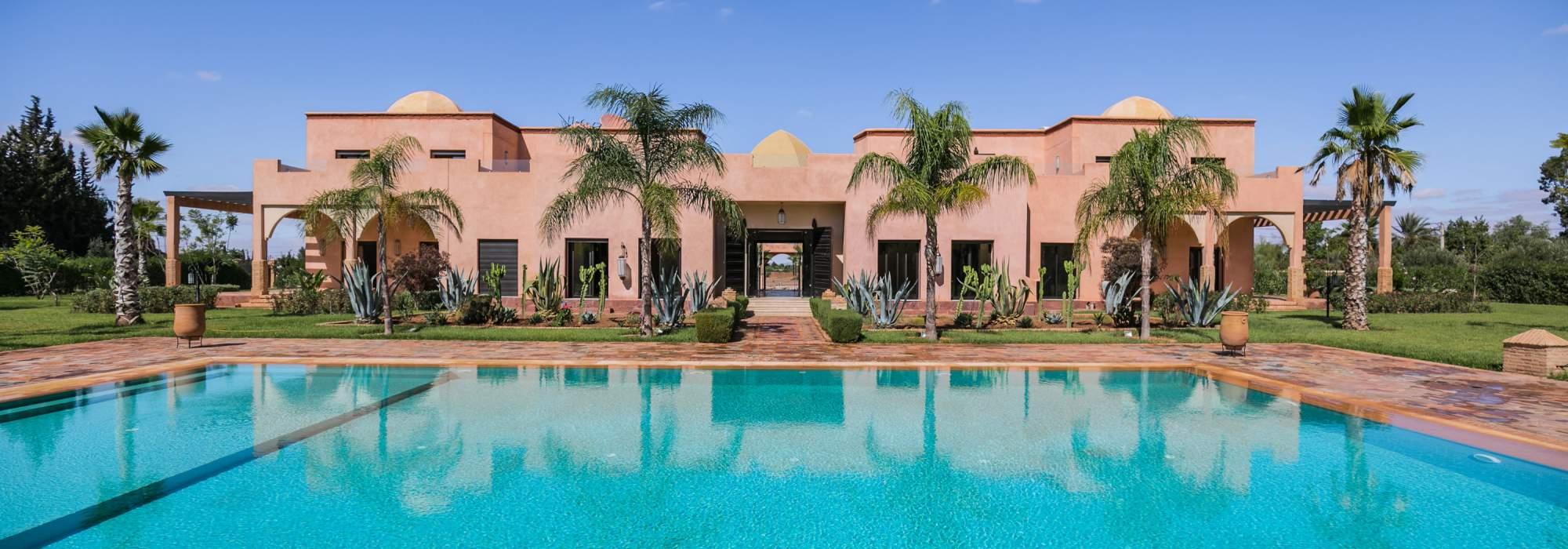 villa marocain a vendre école américaine marrakech