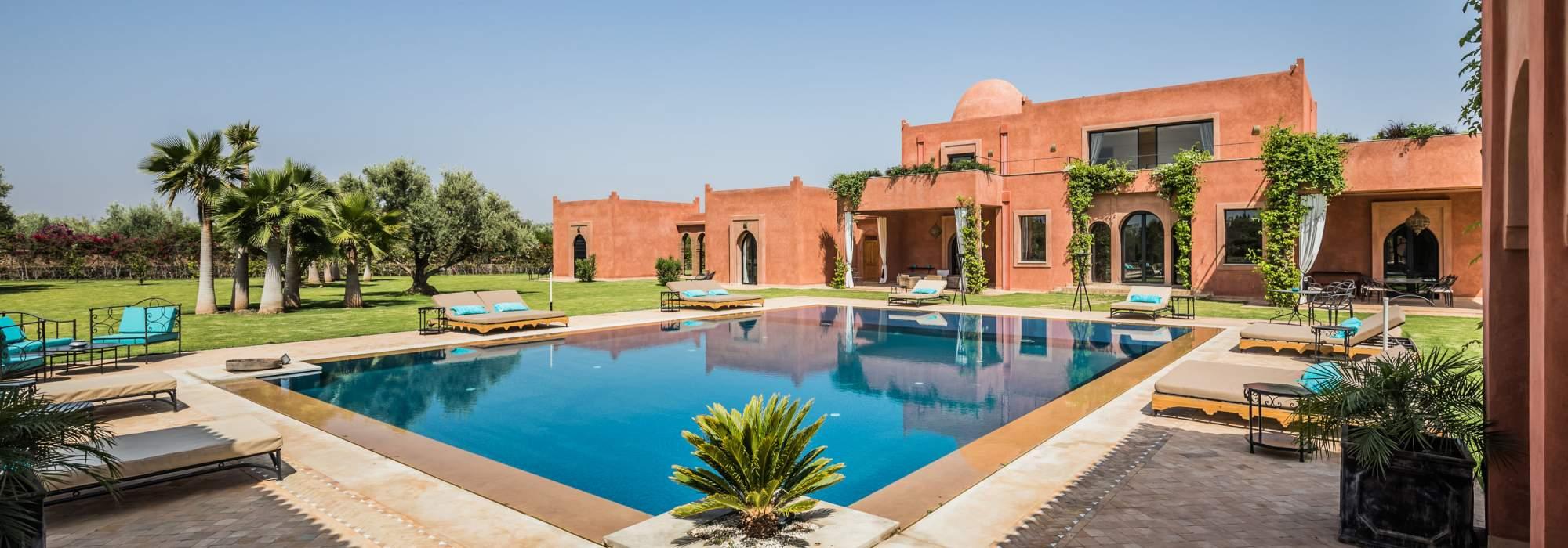 vente villa de prestige route de l'ourika marrakech