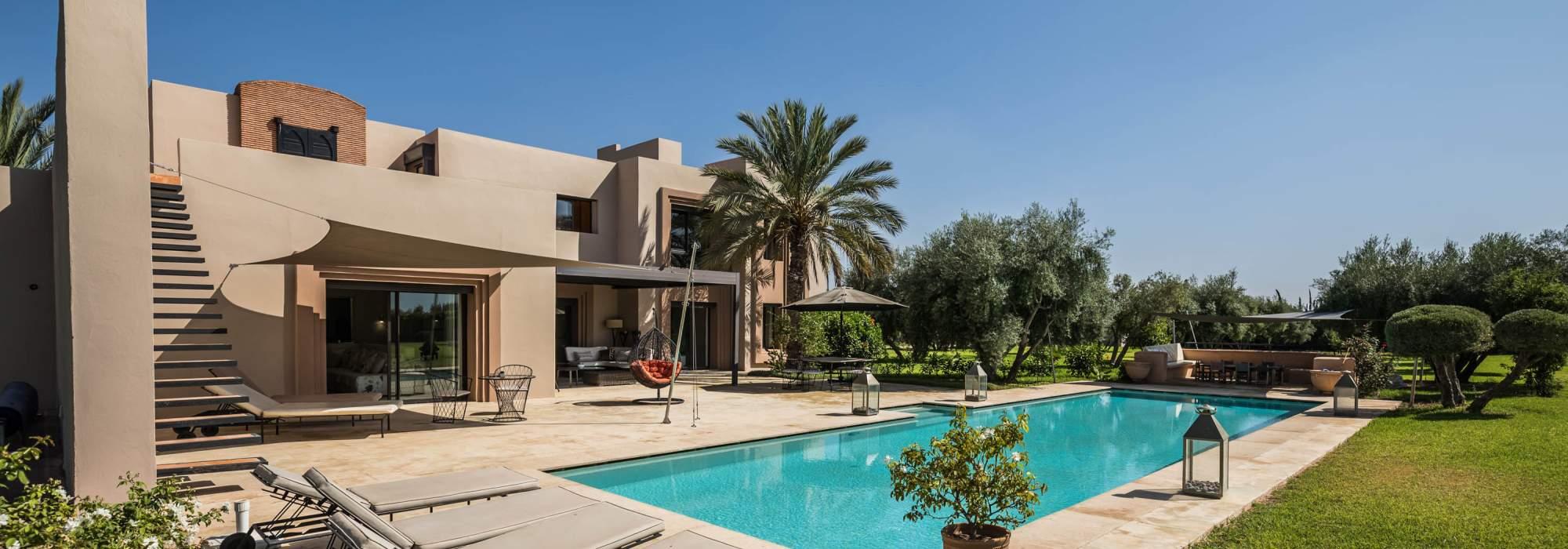 villa contemporaine a vendre proche de centre ville route d'ourika