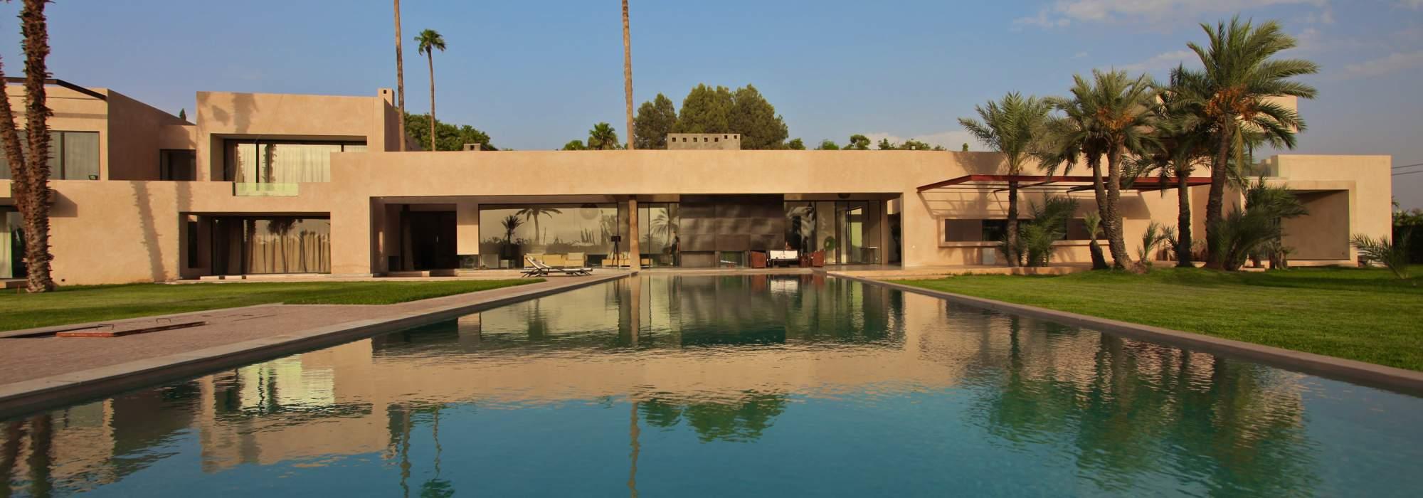 vente villa contemporaine marrakech palmeraie