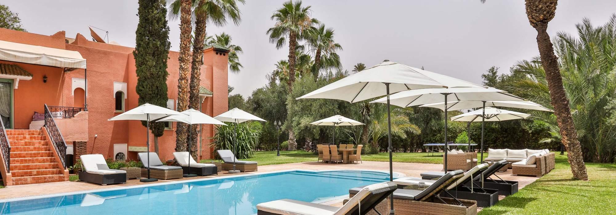 vente villa  marocaine  circuit palmeraie marrakech