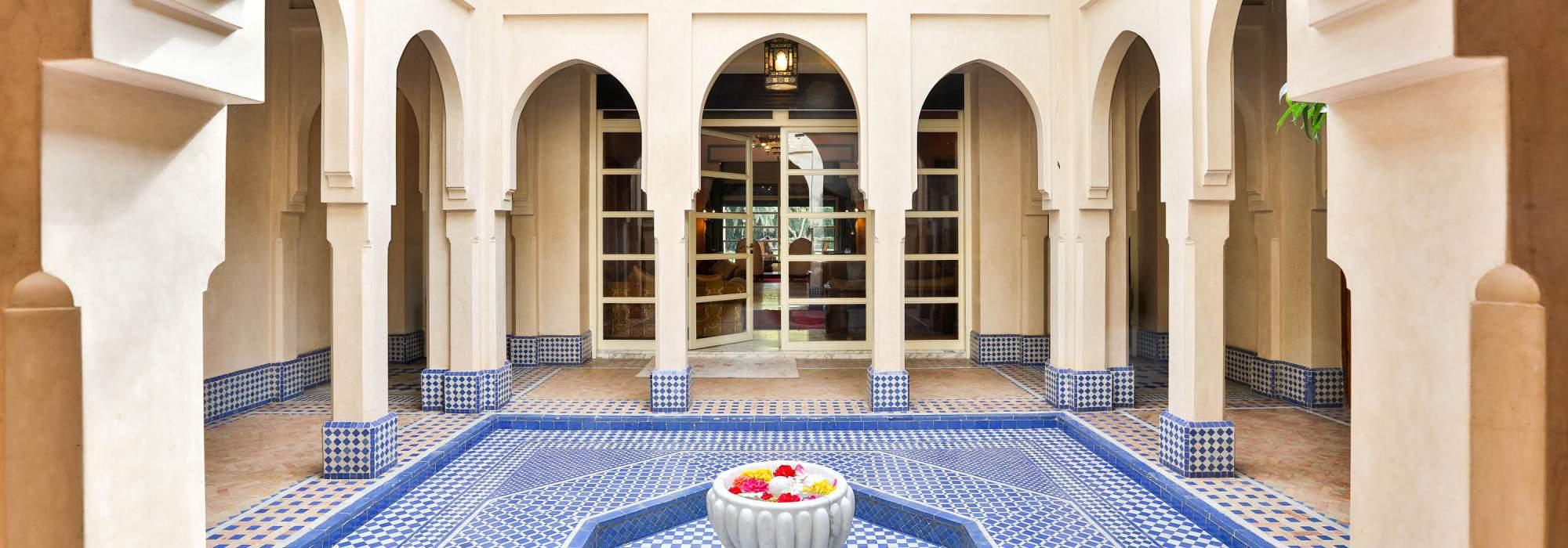 vente villa de style riad circuit  palmeraie marrakech