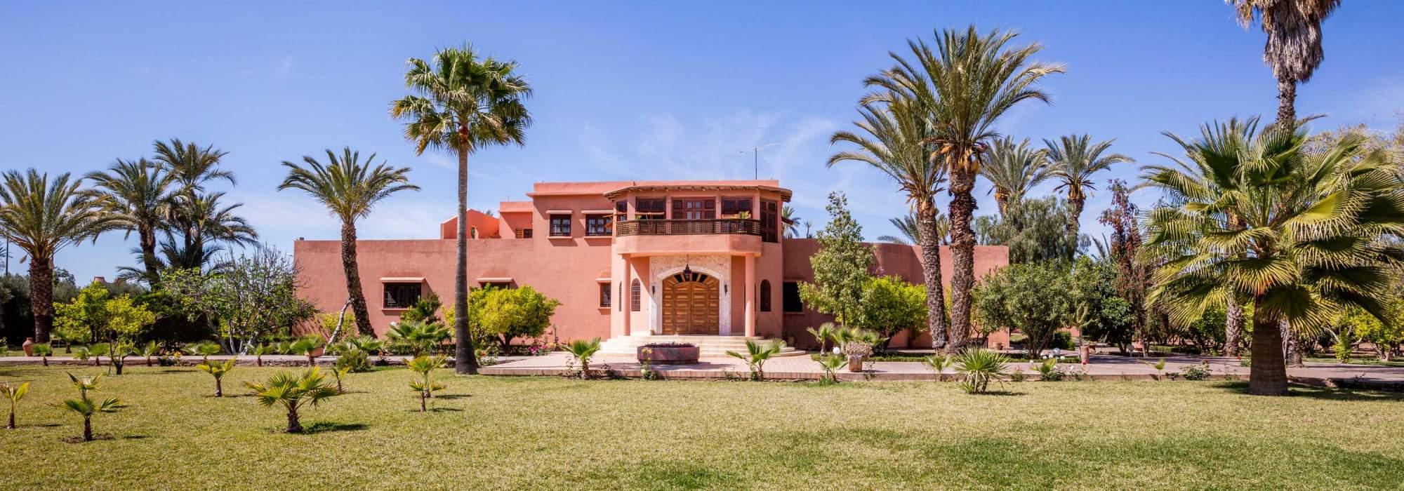 vente villa palmeraie marrakech