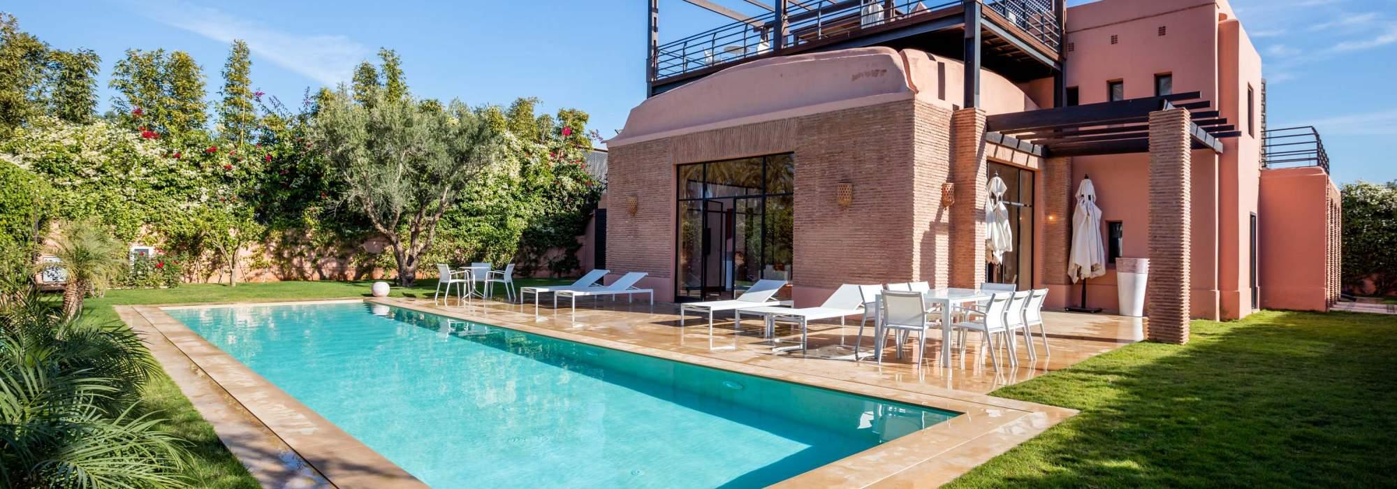 villa marocain epuré a vendre amelkis marrakech