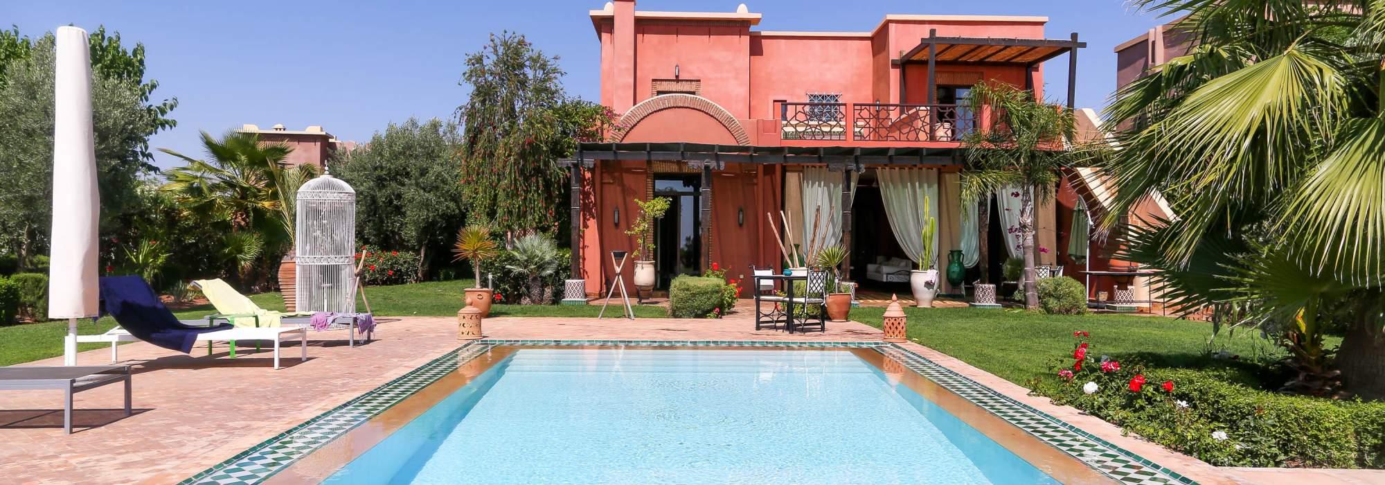 villa a vendre première ligne du golf marrakech