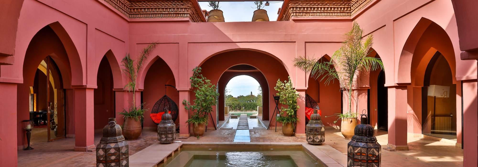 villa a vendre premiere ligne de golf d'amelkis marrakech