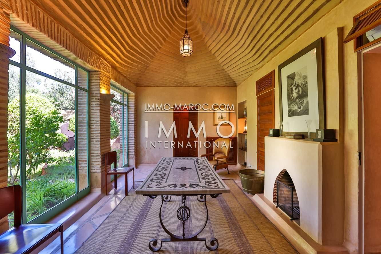 Vente villa Marocain épuré propriete luxe marrakech à vendre Marrakech Palmeraie