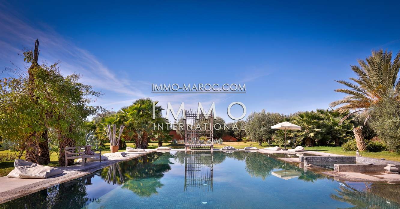 Achat villa Contemporain luxueuses Marrakech Extérieur Route Fes