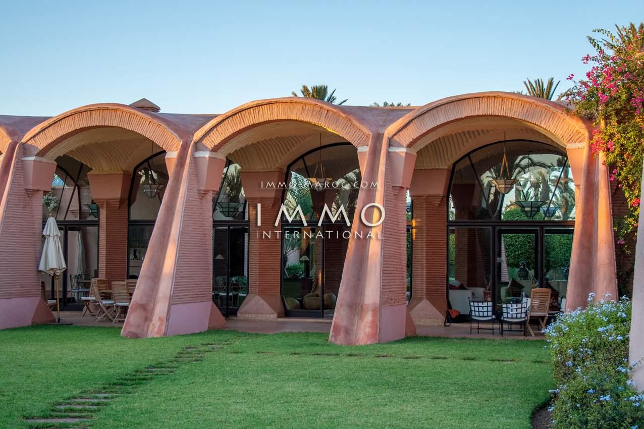 villa achat Marocain épuré prestige a vendre Marrakech Palmeraie
