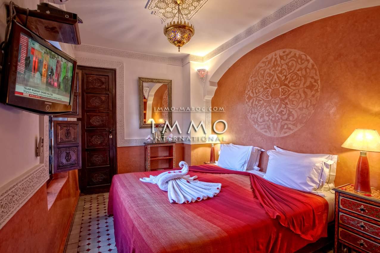 achat riad luxueuses Maison d'hôtes Marrakech Place Jamaa El Fna Dabachi
