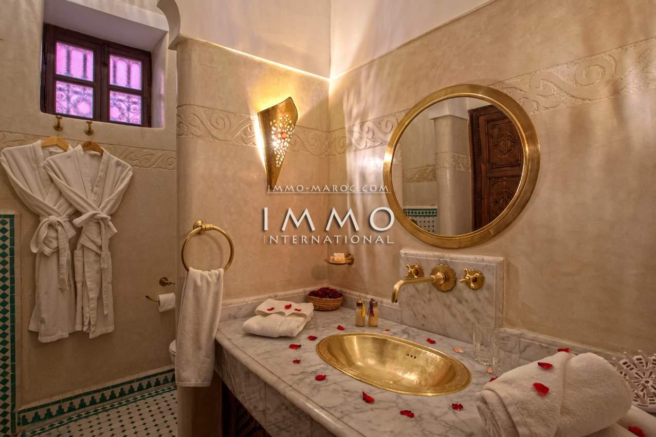 ryad immobilier luxe à vendre marrakech Maison d'hôtes Marrakech Place Jamaa El Fna Dabachi