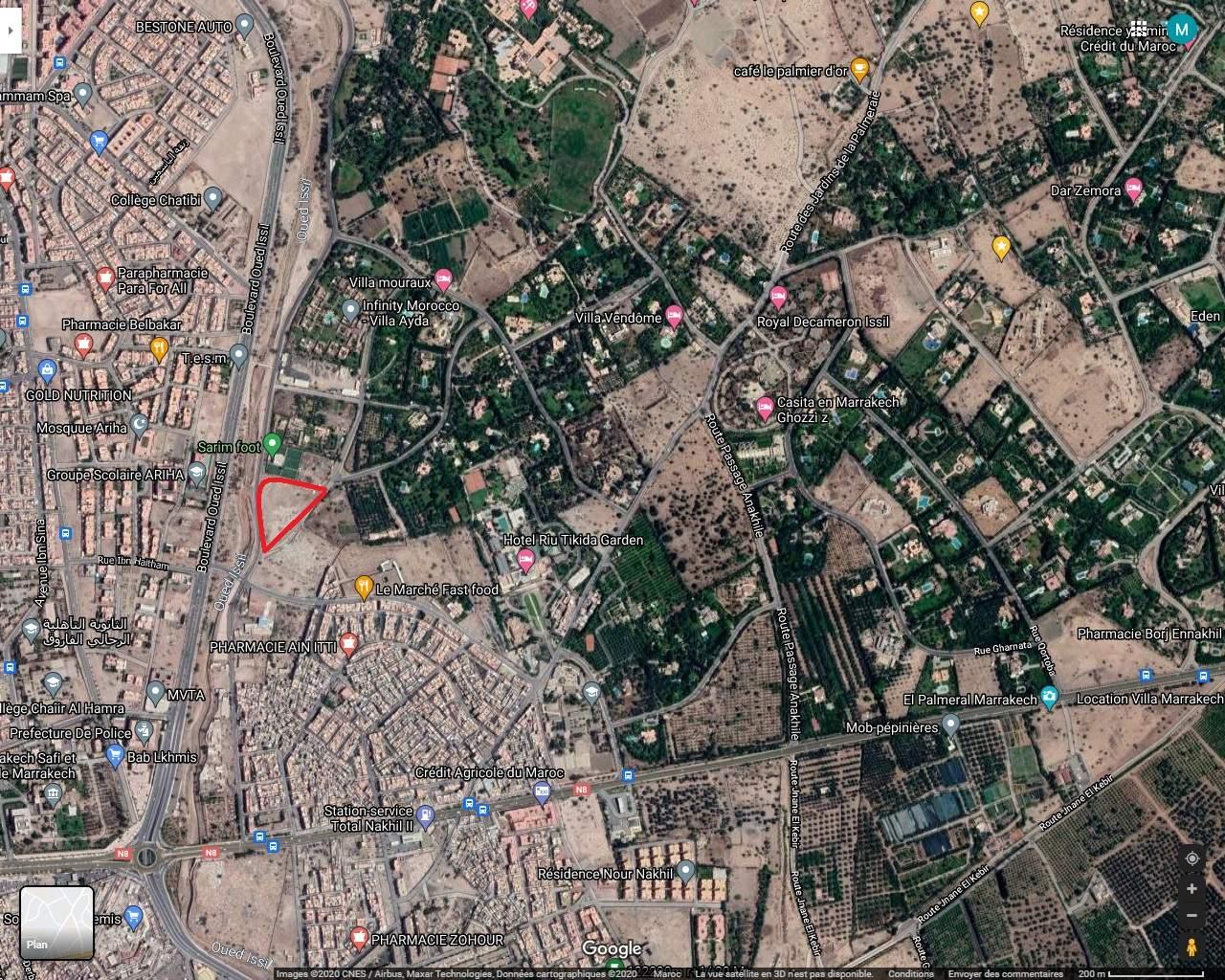 achat terrain Terrain villa Marrakech Palmeraie Circuit Palmeraie