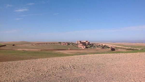 achat terrain Ferme Marrakech Extérieur Route Barrage