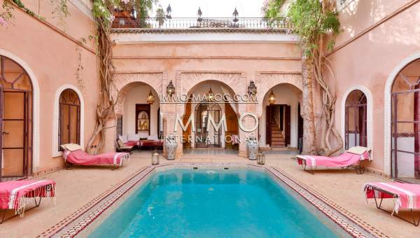 louer riad Marocain épuré Marrakech Place Jamaa El Fna Riad Zitoun