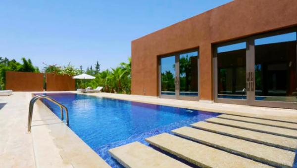 Location maison Contemporain Marrakech Extérieur Route Ourika