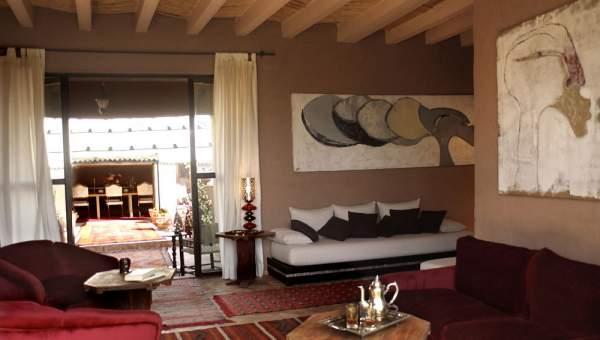 Vente villa luxe Maison d'hôtes Marrakech Extérieur Route Fes
