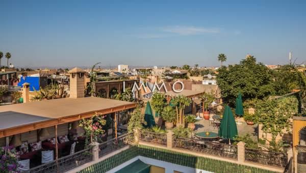achat riad Marocain épuré luxueuses Maison d'hôtes Marrakech moins de 10 minutes de la place Mouassine