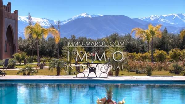 Achat villa Marocain épuré propriete luxe marrakech à vendre Marrakech Extérieur Route Amizmiz
