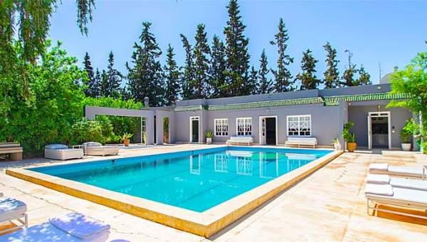 Location villa marrakech meubl e piscine immomaroc - Location maison avec piscine marrakech ...