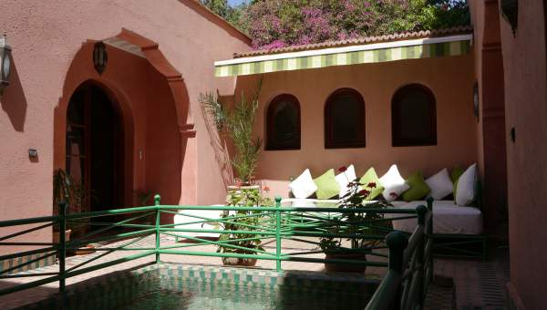 Location villa Marocain épuré Marrakech Palmeraie Ksar Chargagh