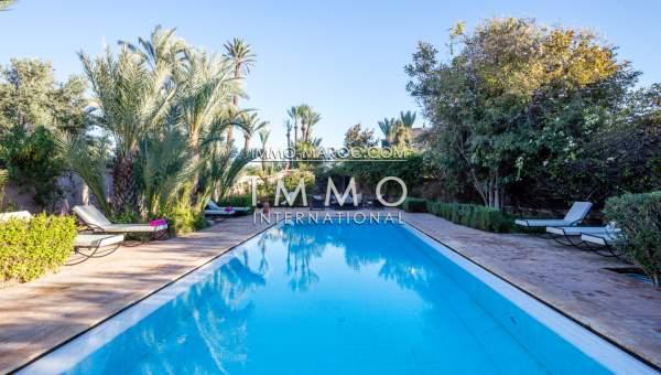 Maison à vendre Marocain épuré haut de gamme Marrakech Palmeraie