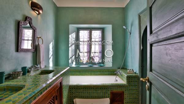 Vente villa Marocain épuré luxe Marrakech Palmeraie