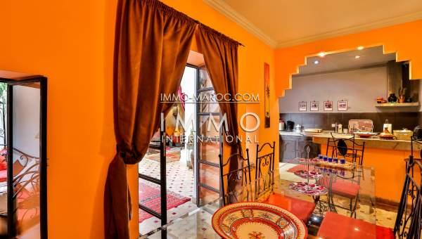 Vente riad Marocain épuré Marrakech moins de 10 minutes de la place Kasbah