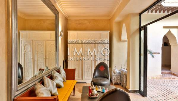 Riad à vendre Marocain épuré Marrakech Place Jamaa El Fna Riad Zitoun