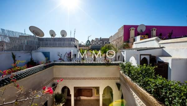 Vente riad Marocain épuré Marrakech Place Jamaa El Fna Riad Zitoun