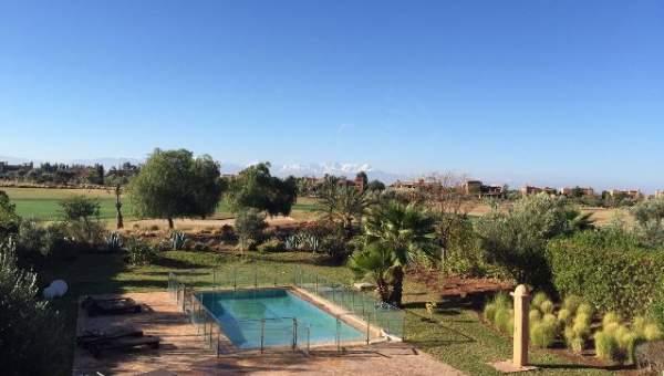 Villa à vendre Marocain épuré Marrakech Amelkis Extérieur Route Ouarzazate