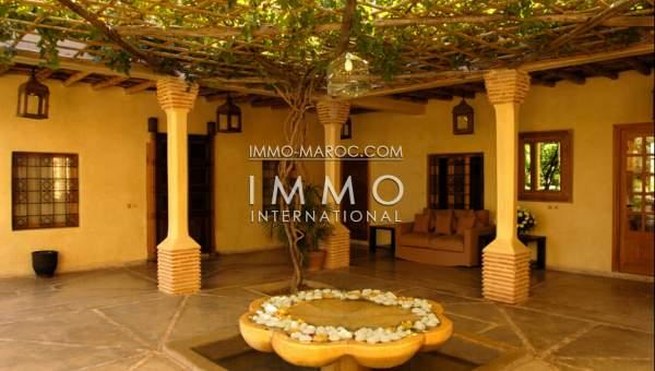 Maison à vendre Marocain prestige a vendre Marrakech Palmeraie Bab Atlas