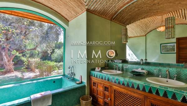Vente villa Marocain épuré luxueuses Marrakech Palmeraie