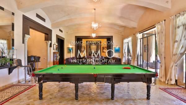 Achat villa Marocain de prestige Marrakech Palmeraie