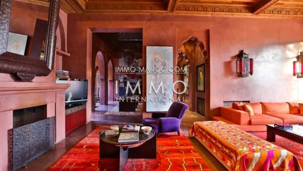 Vente villa Marocain épuré de prestige Marrakech Palmeraie Circuit Palmeraie