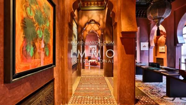 Villa à vendre Marocain épuré biens de prestige Marrakech Palmeraie Circuit Palmeraie