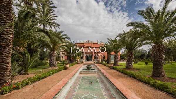 Vente villa Marocain prestige Marrakech Palmeraie Circuit Palmeraie