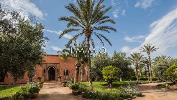 villa achat Marocain prestige Marrakech Palmeraie Circuit Palmeraie