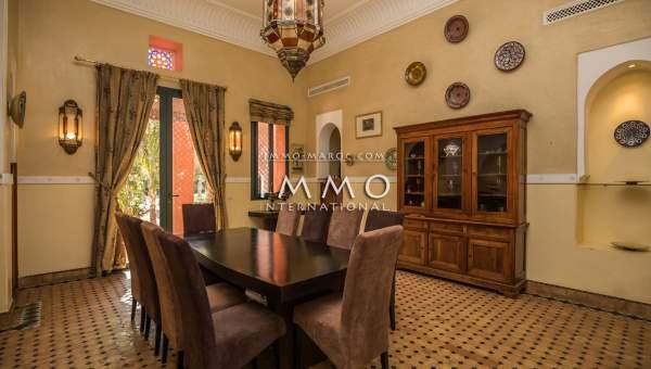 villa achat Marocain luxe Marrakech Palmeraie Circuit Palmeraie